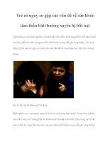 Trẻ có nguy cơ gặp các vấn đề về sức khỏe tâm thần khi thường xuyên bị bắt nạt pdf