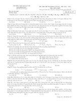 đề thi thử đại học môn hóa năm 2014 lần 2 mã đề 357
