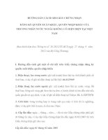 HƯỚNG DẪN CÁCH GHI GIẤY CHỨNG NHẬN ĐĂNG KÝ QUYỀN XUẤT KHẨU, QUYỀN NHẬP KHẨU CỦA THƯƠNG NHÂN NƯỚC NGOÀI KHÔNG CÓ HIỆN DIỆN TẠI VIỆT NAM potx