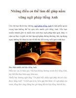 Những điều có thể làm để giúp nắm vững ngữ pháp tiếng Anh pptx