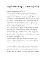 Nghề Marketing – Vì sao hấp dẫn ppt