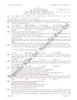 Đề thi thử vật lý - 2012 hay và khó lần 1