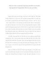 """Phân tích vẻ đẹp của người Hà Nội qua nhân vật bà Hiền trong tác phẩm """"Một người Hà Nội"""" (Nguyễn Khải). (Phân tích nhân vật bà Hiền) pot"""