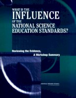 WHAT IS THE INFLUENCE OF THE NATIONAL SCIENCE EDUCATION STANDARDS? ppt