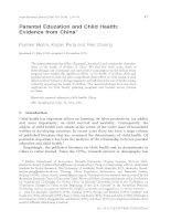 Parental Education and Child Health: Evidence from China* doc