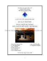 phát triển hệ thống điều khiển mờ nhiệt độ phòng