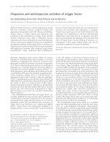 Báo cáo khoa học: Chaperone and antichaperone activities of trigger factor pdf