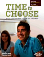 TIME TO CHOOSE A POST-SECONDARY EDUCATION PROGRAM ppt