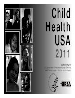 Child Health USA 2011: U.S. Department of Health and Human Services Health Resources and Services Administration pot