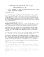 GIẢI ĐỀ CƯƠNG ÔN THI TỐT NGHIỆP MÔN MẠNG MÁY TÍNH