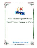 What Smart People Do When Dumb Things Happen at Work:Table of Contents ppt