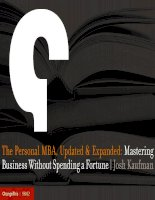 The Personal MBA, Updated & Expanded: Mastering Business Without Spending a Fortune pot