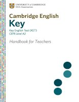 CAMBRIDGE ENGLISH KEY - KEY ENGLISH TEST (KET) CEFR LEVEL A2 HANDBOOK FOR TEACHERS pot
