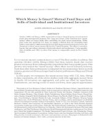 Which Money Is Smart? Mutual Fund Buys and Sells of Individual and Institutional Investors docx