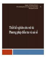 Thiết kế nghiên cứu mô tả: Phương pháp điều tra và sai số ppt
