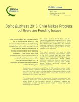 Doing Business 2013: Chile Makes Progress, but there are Pending Issues ppt
