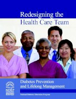 Redesigning the Health Care Team: Diabetes Prevention and Lifelong Management docx