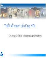 Thiết kế mạch số dùng HDL-Chương 2: Thiết kế mạch luận lý tổ hợp docx