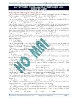 Bài tập về phản ứng của kim loại với dung dịch muối - bài tập tự luyện pot