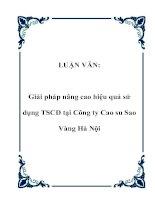 LUẬN VĂN: Giải pháp nâng cao hiệu quả sử dụng TSCĐ tại Công ty Cao su Sao Vàng Hà Nội docx