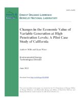 Changes in the Economic Value of Variable Generation at High Penetration Levels: A Pilot Case Study of California pot