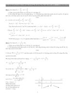 Các bài tập dể và khó cơ bản về khảo sát hàm số trong ôn thi đại học năm 2012- 2013 ppt
