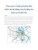 Tổng quan về một giải pháp điều khiển cho hệ thống chuyển động tàu điện cao tốc Hà Nội pptx