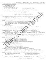 Chuyên đề 1: Cân  bằng Hóa học - Chuyển dịch cân bằng