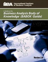 a guide to the business analysis body of knowledge babok guide version 2 0 doc