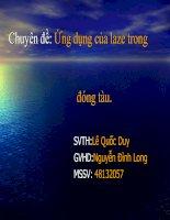 Chuyên đề: Ứng dụng của laze trong đóng tàu. docx