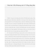 Nhà thơ Viễn Phương nói về Viếng lăng Bác doc