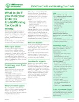 Child Tax Credit and Working Tax Credit - What to do if you think your Child Tax Credit/Working Tax Credit is wrong ppt