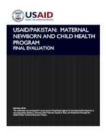 USAID/PAKISTAN: MATERNAL NEWBORN AND CHILD HEALTH PROGRAM FINAL EVALUATION potx