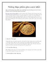 Những thực phẩm giàu canxi nhất pdf