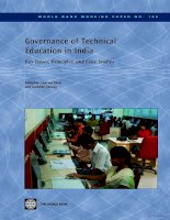 governance of technical education in india doc