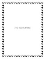 Free Time Activities doc