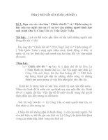 Dàn ý bài viết số 6 (L8) ( chi tiết )