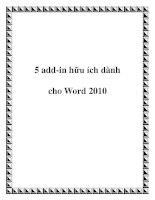 5 add-in hữu ích dành cho Word 2010 pptx