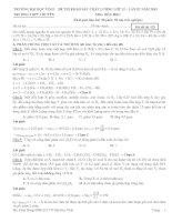 Đề thi khảo sát chất lượng lớp 12 Lần III năm 2013 Môn Hóa Học Trường Đại học Vinh - Mã đề thi 132 ppt