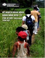 Kế hoạch Hành động Hàng năm 2010–11 của ACIAR: Trích đoạn tiếng Việt pptx