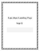 Lựa chọn Landing Page hợp lý pot