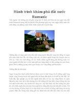 Hành trình khám phá đất nước Rumanie pot