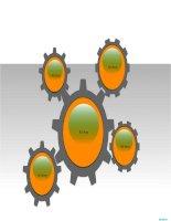 hình vẽ powerpoint bánh xe kiểu đơn giản, gear wheels