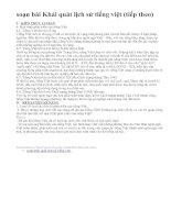 soạn bài Khái quát lịch sử tiếng việt (tiếp theo)