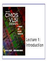 CMOS VLSI Design - Lecture 1: Introduction ppt
