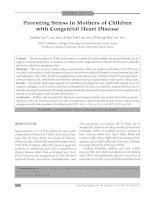 Parenting Stress in Mothers of Children with Congenital Heart Disease pptx