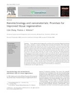 nanotechnology and nanomaterials promises for improved tissue regeneration