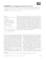 Báo cáo khoa học: NANOGP8 is a retrogene expressed in cancers pdf