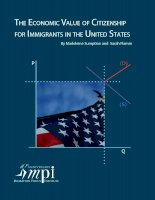 The economic Value of citizenship for immigrants in The united states ppt