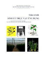 Sinh lý thực vật ứng dụng